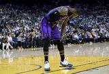 """""""Lakers"""" be traumą patyrusio L.Jameso sutriuškino NBA čempionus"""