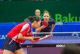 R.Paškauskienei ir A.Karakaševičiui atiteko Europos stalo teniso čempionato bronza