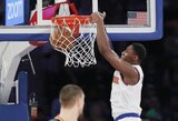 """Naujoko vedama """"Knicks"""" sumetė 143 taškus"""