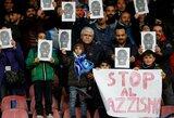 """""""Napoli"""" gerbėjai išreiškė palaikymą rasistiškai užgauliotam K.Koulibaly"""