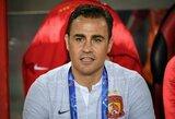 F.Cannavaro karjera Kinijos rinktinėje truko vos dvejas rungtynes