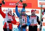 Lietuvos biatlonininkams Italijoje nepavyko iškovoti vietos persekiojimo lenktynėse