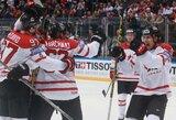 Nuostabų Šiaurės Amerikos derbį laimėję kanadiečiai žengė į pasaulio ledo ritulio čempionato finalą