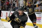 """Dešimties įvarčių NHL finalo pirmųjų rungtynių trileryje - sunki """"Golden Knights"""" pergalė"""