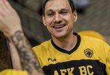 J.Mačiulis svariai prisidėjo prie AEK pergalės Graikijos čempionate