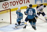 """D.Zubraus atstovaujamos """"Sharks"""" sugrįžimą į namų areną apkartino """"Sabres"""""""