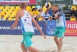 Lietuviai Rytų Europos paplūdimio tinklinio čempionate pasirodymą baigė aštuntfinalyje