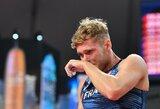 Pasaulio dešimtkovės rekordininko viltys Dohoje dužo: traumuotas K.Mayeris su ašaromis akyse baigė 8-ąją rungtį