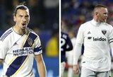 Fanų išrinktoje MLS visų žvaigždžių komandos startinėje sudėtyje – Z.Ibrahimovičius ir W.Rooney