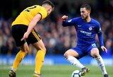 """E.Hazardas 92-ąją minutę fantastišku smūgiu iš toli išplėšė """"Chelsea"""" ekipai lygiąsias"""