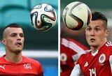 """""""Euro 2016"""" lažybos: brolių akistata ir albanų siekis pirmąkart įveikti šveicarus"""