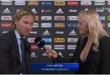 P.Nedvedo interviu su įspūdingų formų žurnaliste prajuokino futbolo gerbėjus