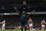 "FA taurės šešioliktfinalis: ""Man United"" iš tolimesnių kovų eliminavo ""Arsenal"""