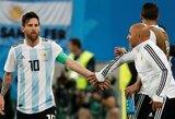 """J.Sampaoli apie apsikabinimą su L.Messi: """"Kai Leo atėjo ir apsikabino, aš buvau laimingas ir jaučiau pasididžiavimą"""""""