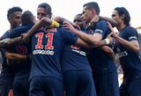 """PSG nepaliko šansų """"Amiens"""" ir Prancūzijos čempionate į savo sąskaitą įsirašė dešimtąją pergalę"""