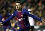 """P.Coutinho agentas atskleidė, jog brazilas liks rungtyniauti """"Barcelonoje"""""""