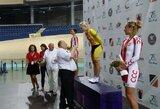 A.Trebaitė tarptautines dviračių treko varžybas Panevėžyje baigė pergalingai, S.Krupeckaitei – sidabras