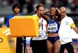 Pamatykite: olimpinė ir pasaulio čempionė diskvalifikuota Dohoje