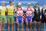 R.Maščinskas ir S.Ritter – pasaulio irklavimo vicečempionai, M.Griškoniui – bronza!