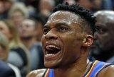 """R.Westbrookas grasino primušti """"Jazz"""" klubo gerbėją ir jo žmoną"""