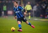 """Jėgas Milano derbyje išbandęs Ch.Eriksenas: """"Anglijoje tokios atmosferos nebūna"""""""