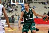 """""""Panathinaikos"""" gali išleisti L.Lekavičių į rinktinę per FIBA atranką"""