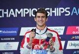 18-metis rusas Europos plaukimo čempionate iškovojo net trečią aukso medalį