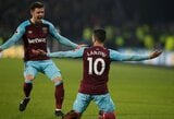 """Anglija: """"Chelsea"""" šoviniai ir vėl buvo tušti, """"West Ham United"""" sutraiškė """"Huddersfield"""""""
