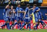 """""""La Liga"""" autsaiderių mūšyje triumfavo """"Alaves"""""""
