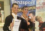 Šokėjai E.Baltaragis ir I.Kučinskaitė Vokietijoje laimėjo bronzos medalius
