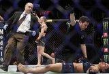 Įspūdingu spyriu koja varžovę nokautavusi V.Ševčenko sėkmingai apgynė UFC čempionės titulą