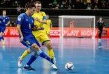 FIFA pasaulio salės futbolo čempionatas: Lietuva garbingai priešinosi galingai Kazachstano rinktinei