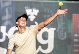 J.Tverijonas apmaudžiai pralaimėjo Didžiojoje Britanijoje, I.Dapkutė rinko WTA reitingo taškus Portugalijoje (papildyta)