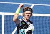 """Įspūdingas A.Rubliovo pasirodymas trečiajame """"US Open"""" rate: italui įteikė du """"riestainius"""""""