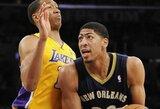 """""""Lakers"""" taškų lenktynėse nepavijo """"Pelicans"""" krepšininkų"""