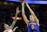 """K.Porzingis surengė dar vieną puikų pasirodymą, tačiau """"Knicks"""" neprilygo """"Heat"""""""