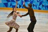 Lietuvos šokių ant ledo pora pasaulio jaunimo čempionate negalės atlikti laisvosios programos