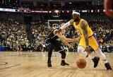 """""""Nets"""" palaužė """"Lakers"""" klubą, K.Irvingo debiutas truko minutę"""