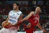 Graikijos vyrų krepšinio rinktinė nepasigailėjo Jordanijos krepšininkų