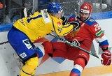 Rusijos ledo ritulio rinktinė Maskvoje krito prieš švedus