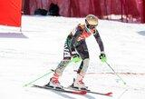 Lietuvos kalnų slidininkai Latvijoje liko be medalių