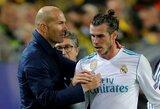 """Į gandus dėl galimo G.Bale'o išvykimo sureagavęs Z.Zidanas: """"Man nereikia jo dėl nieko įtikinėti"""""""