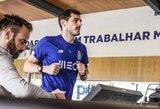 Nepalaužiama valia: širdies smūgį patyręs I.Casillasas po 6 mėnesių pertraukos vėl pradėjo treniruotis