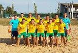 Lietuvos paplūdimio futbolo rinktinė iškovojo pirmąją pergalę