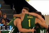 Pasaulio jaunimo 3x3 krepšinio čempionate E.Džiaugys paskutinėmis sekundėmis išplėšė lietuvių pergalę