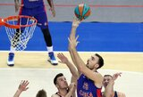 CSKA centrui N.Milutinovui sezonas yra baigtas