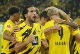 """Vokietijoje – E.Haalando dublis ir triuškinama """"Borussia"""" pergalė"""