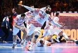 Dviejų pratęsimų trileryje – kroatų pergalė paskutinėmis sekundėmis