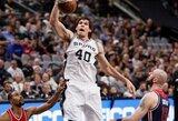 """Prie """"Spurs"""" rekordo prisidėjo ir sėkmingai laiką ant parketo išnaudojęs B.Marjanovičius"""