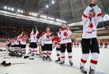 Ketvirtą pergalę iš eilės šventę jaunieji Lietuvos ledo ritulininkai dėl aukso kovos su vengrais